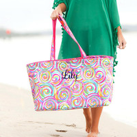 Personalized Sorbet Collection - Monogrammed Beach Bag, Cooler Tote,Cosmetic Bag,Beach Towels,Drink Wrap,Tunic Coverup,Sand Circle Towel