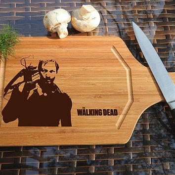 kikb562 Personalized Cutting Board series walking dead fan gift design board