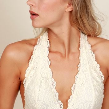 Be Fair Lace Bralette Vanilla