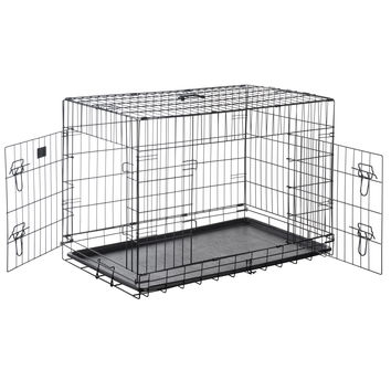 "Pet Trex PT2304 48"" Folding Pet Crate Kennel Wire Cage for Dogs, Cats or Rabbits"