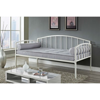 Twin Size White Metal Day Bed Frame - 600 Lb. Weight Limit