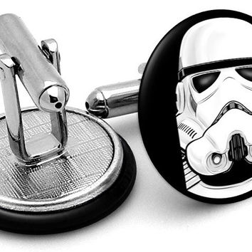 Stormtrooper Portrait Cufflinks