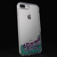 Pink Glamour Flow Glitter Case for the iPhone 7 or 7 Plus