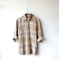 90s OLIVE plaid shirt . LUMBERJACK. grunge. long sleeves. check pattern. festival shirt. camping. oversize. unisex