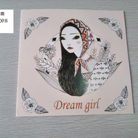 English Edition Dream Girl Coloring Book 24 Pages Secret Garden Styles For Adult Relieve Stress Painting Drawing Books