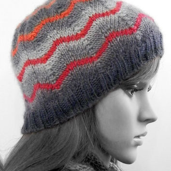 Knitted wool winter hat beanie