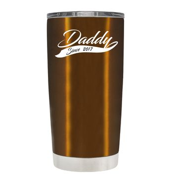 Daddy Since 2017 Translucent Copper 20oz Father's Day Tumbler Cup