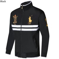 POLO RALPH LAUREN 2018 autumn and winter new men's casual sports cardigan jacket black