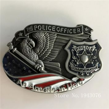 Silver Eagle An AMERICAN HERO Police Officer Belt Buckles