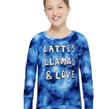 Justice Girl's Super Soft Tie Dye Blue