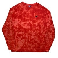 "Nike X Jeffersons Custom Tonal Tie Dye Washed Crewneck ""FIRE RED"""