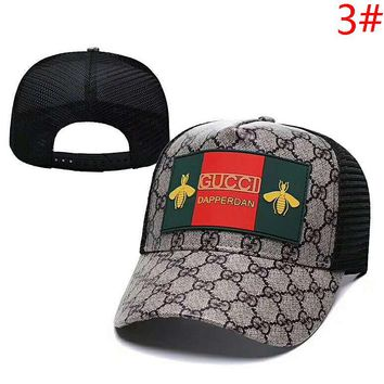 GUCCI Fashion New Bee More Letter Print Sunscreen Travel Women Men Mesh Cap Hat