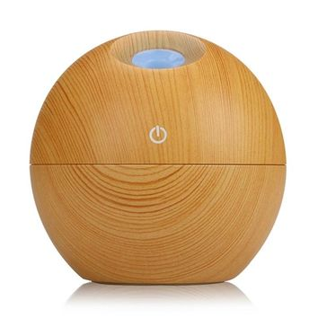 130ml Awesome Aromatherapy Wood Essential Oil Diffuser Aroma with Lamp 7 Color Changing LED Lights