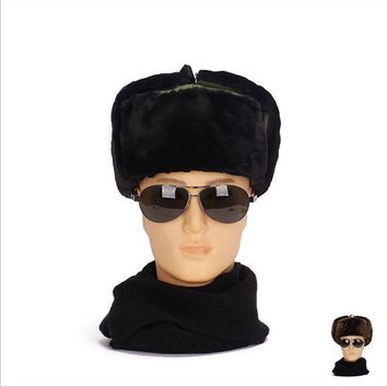 New Men Winter Hats Anti-static Windproof Thick Warm Winter Women Cap Men's Cycling Hat Ear Flaps Bomber LeiFeng Caps