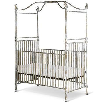 Corsican Iron Cribs 43720 | Stationary Canopy Crib