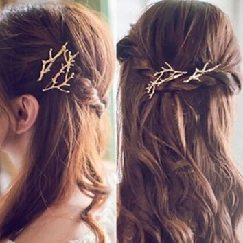 Korea hair accessories branch antlers alloy hairpin clip personalized fashion princess Wedding Hair Accessories Bridal