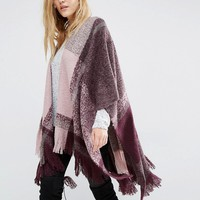 Y.A.S Mag Poncho In Winetasting at asos.com