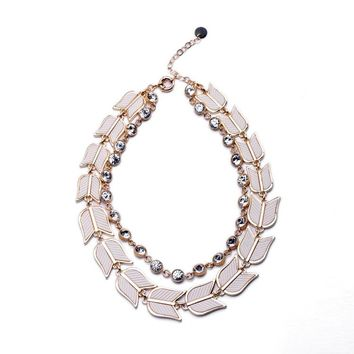 Display Fashion Online Accessories Women Royal Affair Exaggerated Made Unique  Jewelry Floral Chunky Necklace