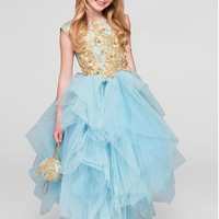 [71.99] Gorgeous Tulle Jewel Neckline Ball Gown Flower Girl Dresses With Lace Appliques - dressilyme.com