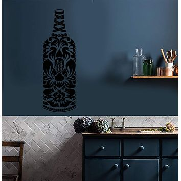 Vinyl Wall Decal Alcohol Wine Bottle Bar Kitchen Decor Stickers (3046ig)