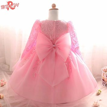 Princess Dress For Girls Winter Flower Girl Wedding Gown Children Clothing Kids Party Design For Girls Clothes