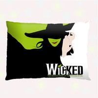 WICKED Musical Broadway Custom Pillow Case - One side ( Front Print )