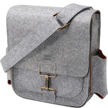 Sons of Trade Felt Journey Pack w/changing kit Diaper Bag Gray