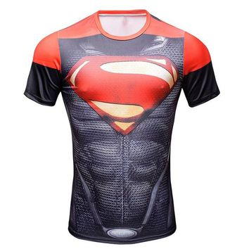 Superman Red Compression Shirt