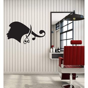 Vinyl Decal Wall Sticker Beauty Hair Salon Barbershop Scissors Decor Unique Gift (g059)