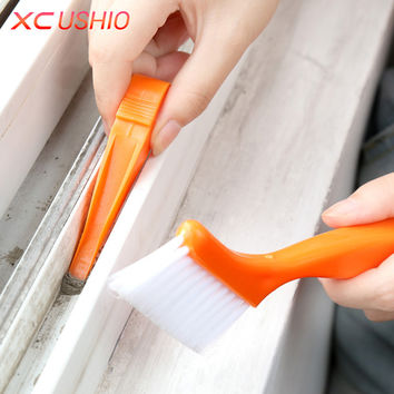 2 in 1 Multipurpose Window Groove Cleaning Brush Nook Cranny Household Keyboard Home Kitchen Folding Brush Cleaning Tool