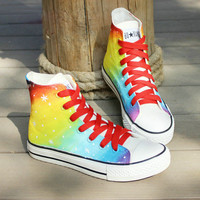 Galaxy Converse shoes Custom Converse Galaxy Converse Sneakers Hand-Painted On Converse Shoes