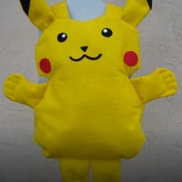 Pikachu costume Pokemon Costume Pokemon Go Halloween Costume Willing make any size Fast Shipping Easy on and off loose fitting