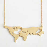 New Arrival Stylish Gift Jewelry Shiny Accessory Fashion Strong Character World Map Set Pendant Necklace [4956872452]