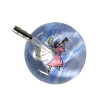 UltraScope Single Stethoscope Angel with Trumpet Light Pink