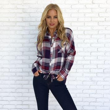 Country Girl Plaid Button Up Blouse