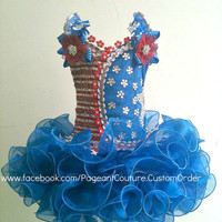 Blue Glitz Pageant Dress - Made to Order - N.02.US