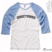 "One Direction ""Directioner"" Baseball Tee in Juniors/Womens Sizes - 1D 118"