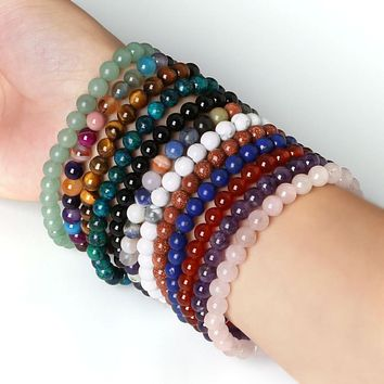 Colorful Natural Stone Yoga Stretch Bracelet