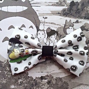 My Neighbor Totoro Soot Sprite Inspired Hair Bow or Bow Tie