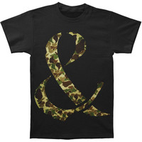 Of Mice & Men Men's  Camo Ampersand Slim Fit T-shirt Black Rockabilia