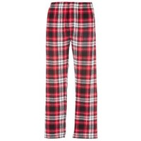 Boxercraft Red & Black Plaid Flannel Pant Button Close-Fly with Pockets