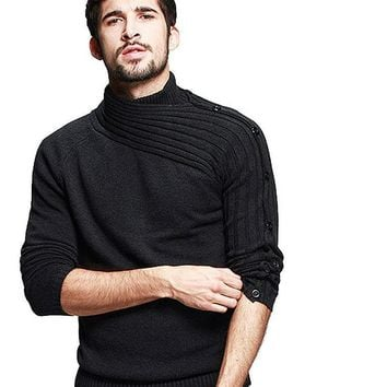 Man Shawl Collar sweater, good quality Men sweaters Men's knitwear Winter jersey