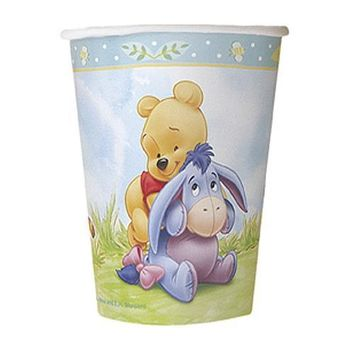 Winnie the Pooh Baby Shower Cups [9 oz - 270 ml - 8 cups]