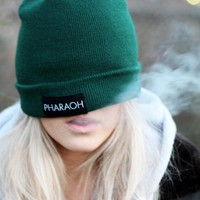 GREEN PHARAOH BEANIE — PHARAOH