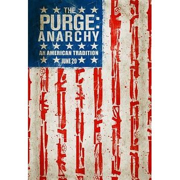 Purge Anarchy poster Metal Sign Wall Art 8in x 12in