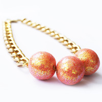 Orb Necklace (Coral)