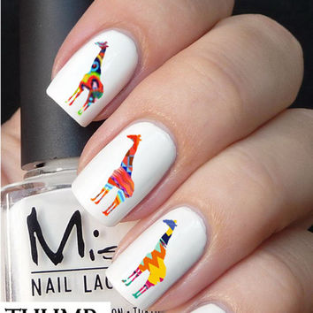 Tribal Giraffe Nail Decals 50pc