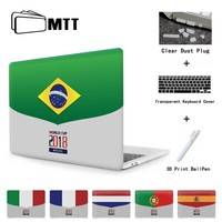 2018 World Soccer Cup flag Case For Macbook Air 11.6 13 New Pro 13.3 15 Touch Bar For Apple Mac book Cover 12 inch Laptop Sleeve
