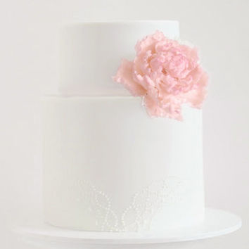 Cake Topper, Gumpaste Flower Sugar Flower, Pink Peony, Wedding/Birthday Cake