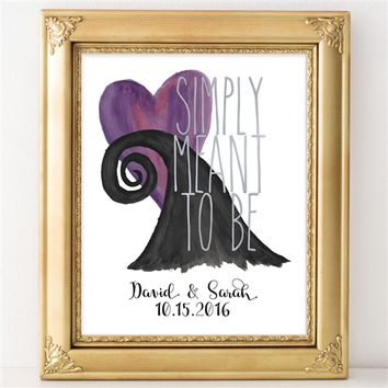 Custom Simply Meant to Be Print - 8x10 Personalized Nightmare Before Christmas Print - Spiffing Jewelry